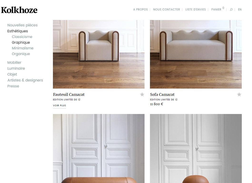 kolkhoze.fr - Page de liste de produits design