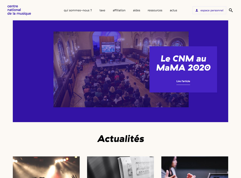 CNM - Page d'accueil