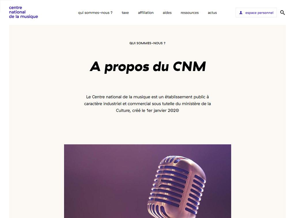 CNM - Exemple de page